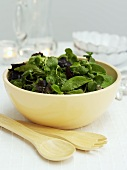 Mixed leaf salad in a bowl