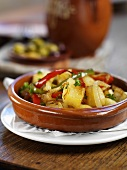Patatas a lo pobre (potatoes with pepper and onions, Spain)