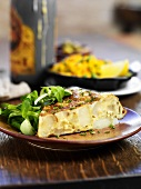 Potato tortilla with lambs lettuce (Spain)