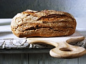 Farmhouse bread on a chopping board