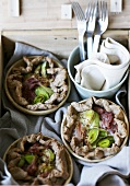 Wholemeal ham and leek pie