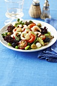Seafood salad with prawns and scallops