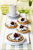 Cherry cream tarts