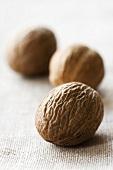 Three whole nutmegs