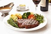 Beefsteak with vegetables