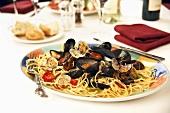 Spaghetti with shellfish