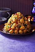 Struffoli napoletani (Fried pastry balls with honey, Italy)