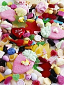 Many different sweets