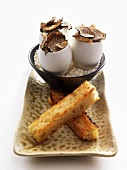 Eggs with truffles and toast