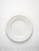 White plate (overhead view)