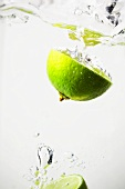 Half a lime in water