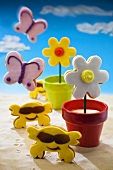 Novelty biscuits (crabs, butterflies and flowers)