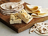 Flatbreads and rosemary focaccia