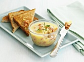 Potted shrimps with toast (England)