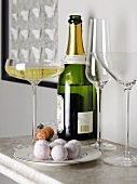 Champagne truffles and champagne