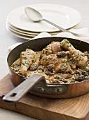 Chicken ragout with morels