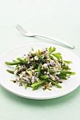 Crab and bean salad