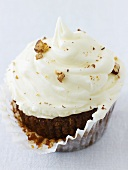 Carrot cupcake with walnuts