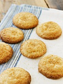 Ginger cookies with brown sugar