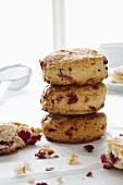 Stacked cranberry scones