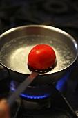 Blanching a tomato