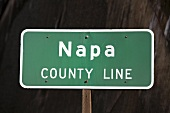 Sign: Napa county line