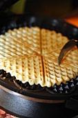 Waffle on a waffle iron