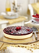 Mixed berry cheesecake for Christmas