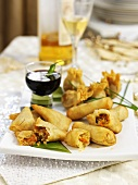 Spring rolls with vegetable filling for Christmas