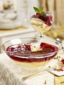 Raspberry trifle for Christmas
