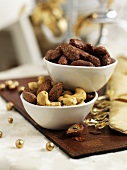 Spicy nuts and roasted almonds for Christmas