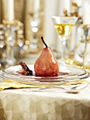 Poached pear for Christmas
