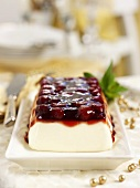 Strawberry terrine for Christmas