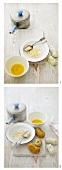 Making potato croquettes (breading)