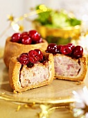 Pork pie with cranberries for Christmas