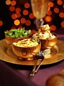 Potato gratin and vegetables for Christmas