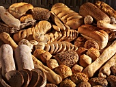 A selection of different breads and rolls