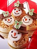 Chocolate Christmas snowmen