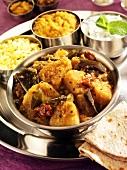 Aloo baigan (Kartoffel-Auberginen-Curry, Indien)