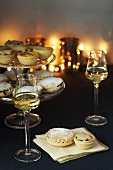 Christmas mince pies and dessert wine