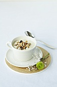 A cup of yogurt muesli