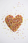 Sprinkles with heart shape