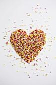 Herz aus Zuckerstreusel