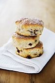Three raisin scones