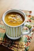 Pumpkin soup in a cup