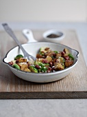 Bubble and squeak (potatoes with vegetables, England)