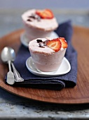 Frozen strawberry souffle