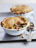 Pot pie with turkey