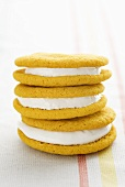 Banana moon pies with a marshmallow filling