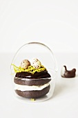 Chocolate Whoopie pie with an Easter basket
